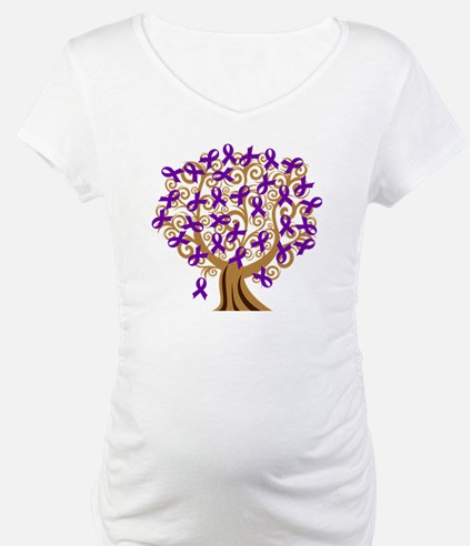 Purple Ribbon Awareness Tree Shirt
