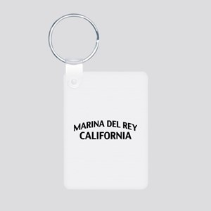 Marina del Rey California Aluminum Photo Keychain