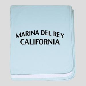 Marina del Rey California baby blanket
