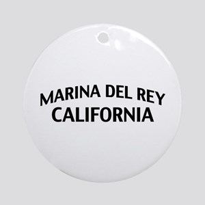 Marina del Rey California Ornament (Round)
