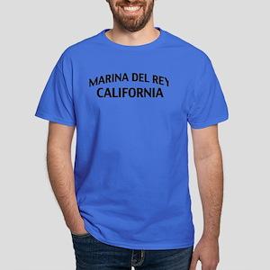 Marina del Rey California Dark T-Shirt