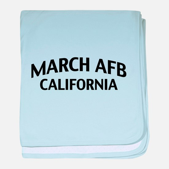 March AFB California baby blanket