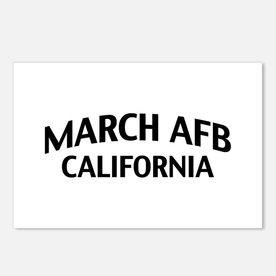 March AFB California Postcards (Package of 8)