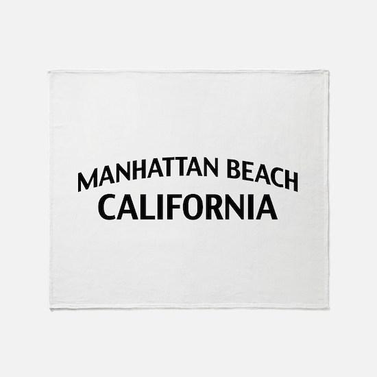 Manhattan Beach California Throw Blanket