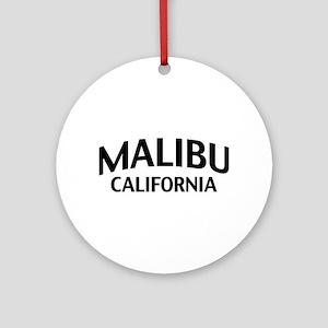 Malibu California Ornament (Round)