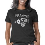 i-love-animals-grey-black- Women's Classic T-Shirt