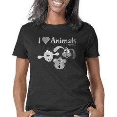 i-love-animals-grey-black- Women's Classic T-Shirt