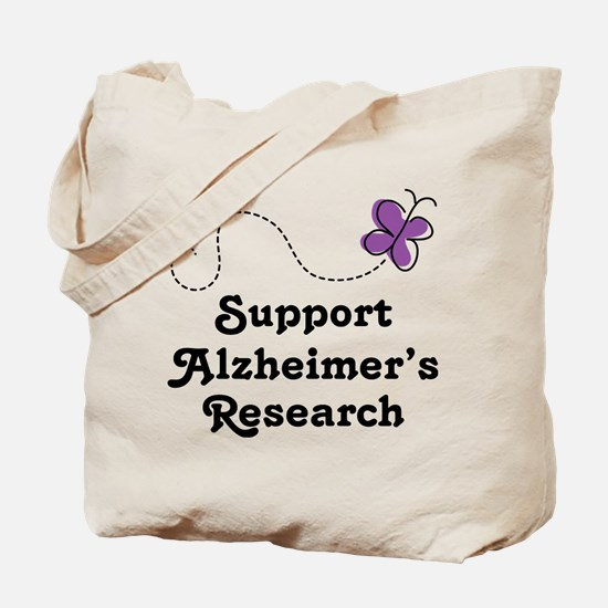 Support Alzheimer's Research Tote Bag