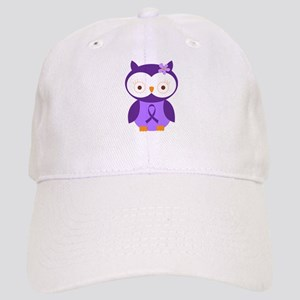 Purple Ribbon Awareness Owl Cap