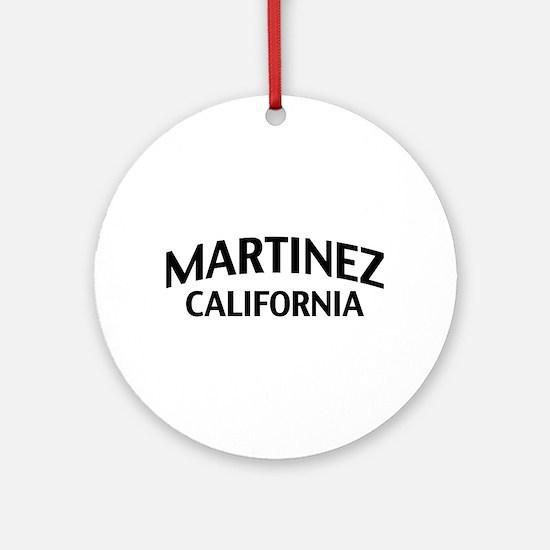 Martinez California Ornament (Round)