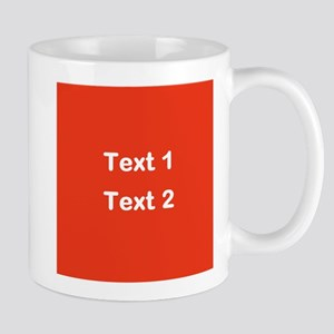 Red with Bold Custom Text. Mug