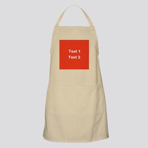 Red with Bold Custom Text. Apron