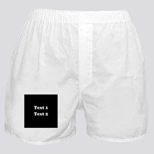Custom Black and White Text. Boxer Shorts