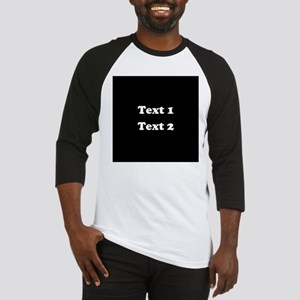Custom Black and White Text. Baseball Jersey