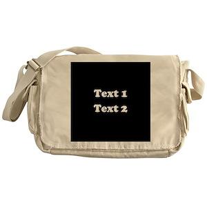 ecbe17d1b67a Black Messenger Bags - CafePress