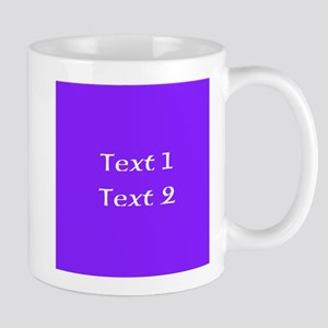 Purple with Nice Custom Text. Mug