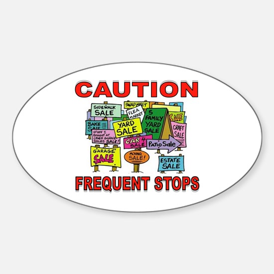STOP THE CAR Sticker (Oval)