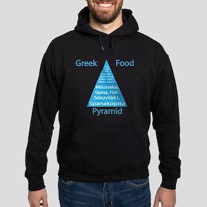 Greek Food Pyramid Hoodie (dark)