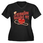 Jacqueline Lassoed My Heart Women's Plus Size V-Ne
