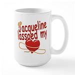 Jacqueline Lassoed My Heart Large Mug