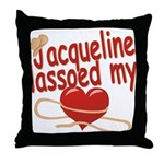 Jacqueline Lassoed My Heart Throw Pillow