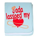 Jada Lassoed My Heart baby blanket