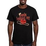 Jamie Lassoed My Heart Men's Fitted T-Shirt (dark)