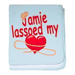 Jamie Lassoed My Heart baby blanket