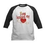 Jane Lassoed My Heart Kids Baseball Jersey