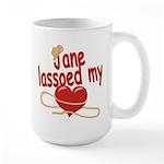 Jane Lassoed My Heart Large Mug