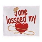 Jane Lassoed My Heart Throw Blanket