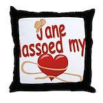 Jane Lassoed My Heart Throw Pillow