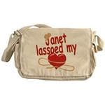 Janet Lassoed My Heart Messenger Bag