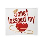 Janet Lassoed My Heart Throw Blanket