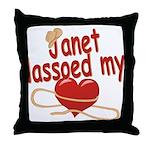 Janet Lassoed My Heart Throw Pillow