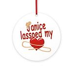 Janice Lassoed My Heart Ornament (Round)