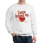 Janice Lassoed My Heart Sweatshirt