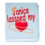 Janice Lassoed My Heart baby blanket