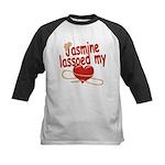 Jasmine Lassoed My Heart Kids Baseball Jersey
