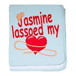 Jasmine Lassoed My Heart baby blanket