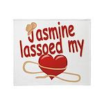 Jasmine Lassoed My Heart Throw Blanket