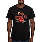 Jean Lassoed My Heart Men's Fitted T-Shirt (dark)
