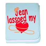 Jean Lassoed My Heart baby blanket