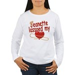 Jeanette Lassoed My Heart Women's Long Sleeve T-Sh