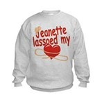 Jeanette Lassoed My Heart Kids Sweatshirt