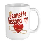 Jeanette Lassoed My Heart Large Mug