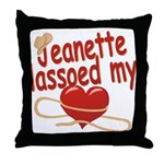 Jeanette Lassoed My Heart Throw Pillow