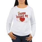 Jeanne Lassoed My Heart Women's Long Sleeve T-Shir