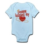 Jeanne Lassoed My Heart Infant Bodysuit