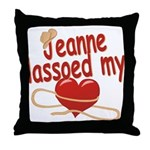 Jeanne Lassoed My Heart Throw Pillow